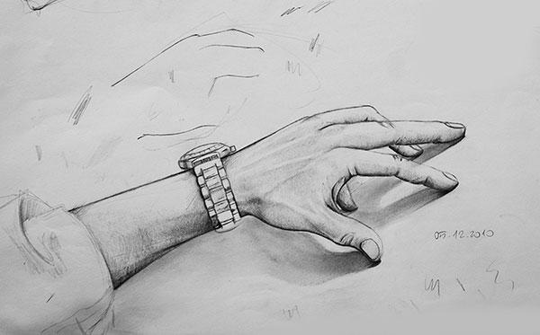 El çizimi Hand Drawing Resim Derslerinde çizdiklerim Karakalem