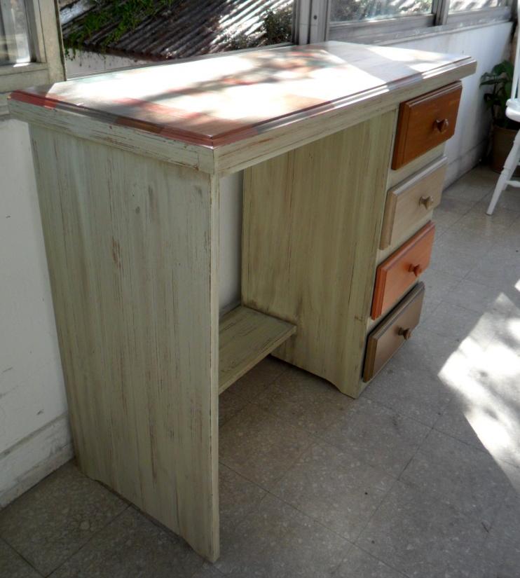 Deco project reciclados de muebles y objetos funes for Muebles envejecidos en blanco