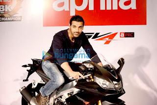 Actor John Abraham unveil of 'Aprilia bike'