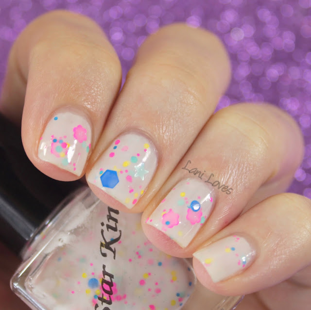 NZ Indie Polish Month: Star Kin Daisy Dot Star Nail Polish Swatches & Review
