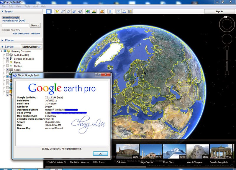 Google Earth Pro 7018244 Beta PatchMPT ChingLiu