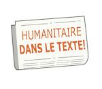 L'humanitaire dans le texte