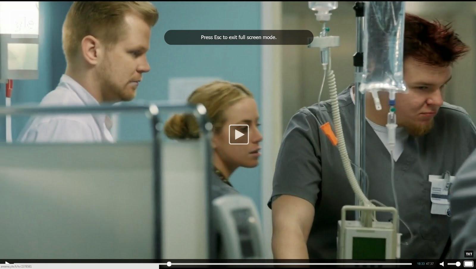 Ari Savonen SYKE tv-sarjassa.
