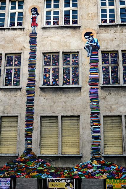 Street Art By Brazilian Artist Tinho On The Streets Of Frankfurt, Germany.