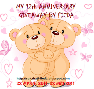 'MY 12th ANNIVERSARY GIVEAWAY BY FIEDA""