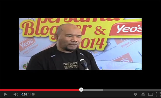 Video Majlis Sepetang Bersama Blogger #SBB2014