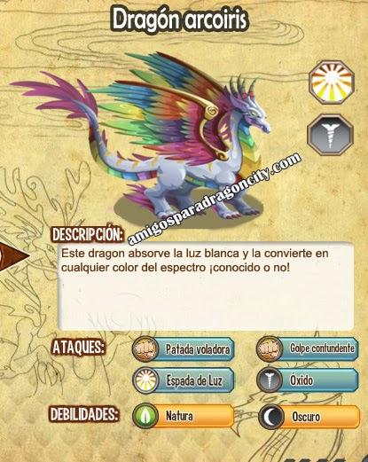 imagen de las caracteristicas del dragon arcoiris