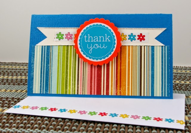 SRM Stickers Blog - Thank You Card Sets by Michelle  - #thankyou #stickers  #punchedpieces #borders #take2 #cards #cardset