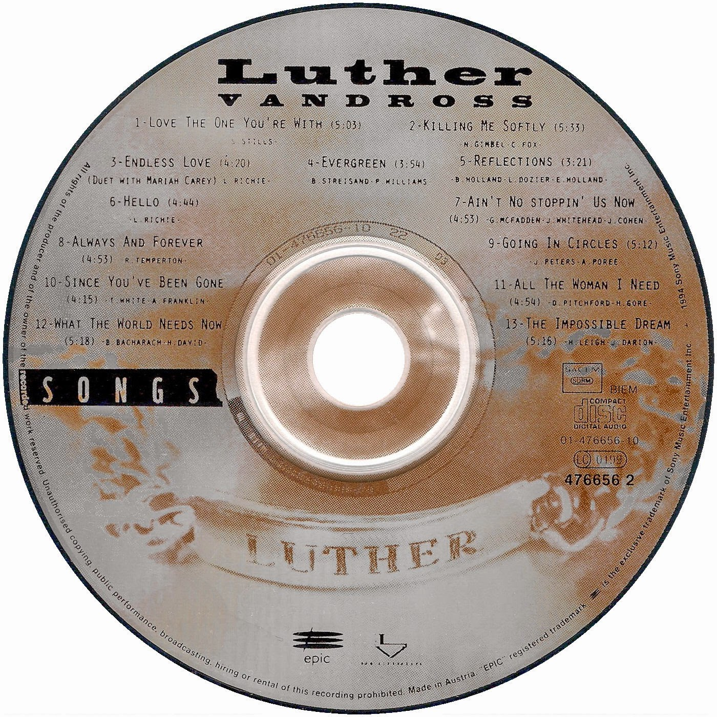 Luther Vandross - Songs / Your Secret Love