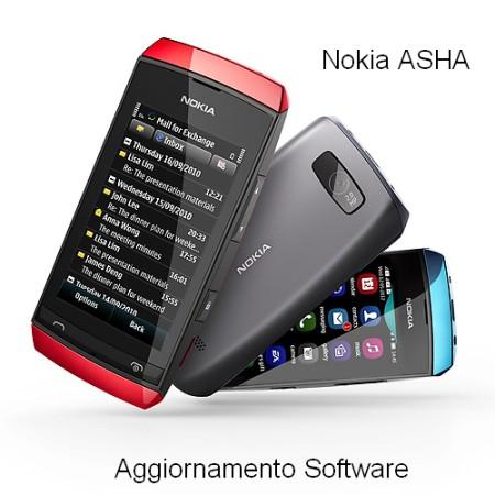 Nokia ha rilasciato un aggiornamento firmware con miglioramento del software per tutti gli smartphone della serie Asha con supporto al touchscreen