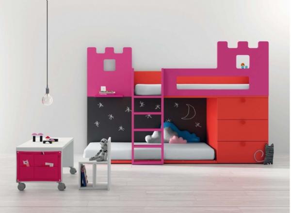 Litera tren con forma de castillo - Mueble infantil madrid ...