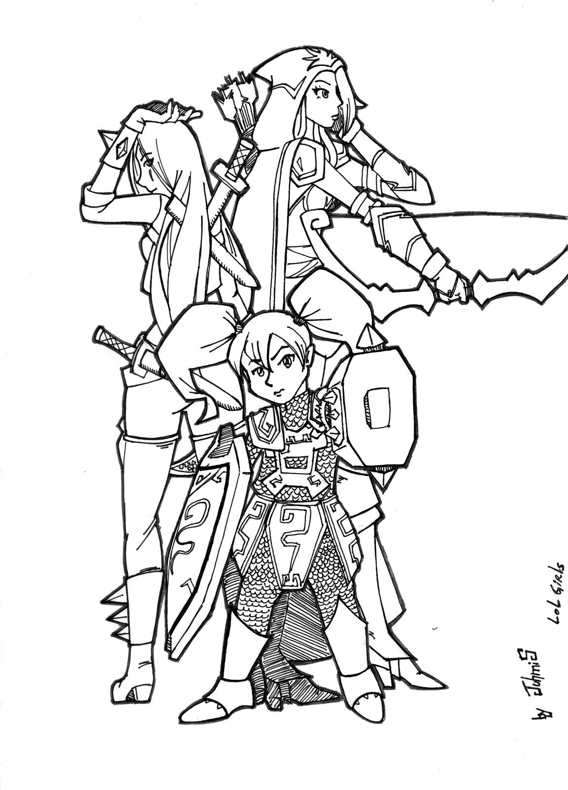 Desenho como desenhar The League of Legends e colorir
