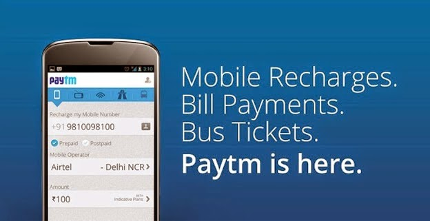 Rs 20 Cashback on Recharge of Rs 50 on Paytm Mobile Recharge