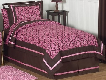 Pink and brown bella kid bedding pink bedding comforter
