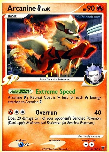 Arcanine pokemon card