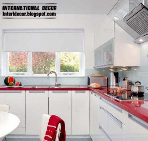 L-shaped kitchen designs, stylish white kitchen