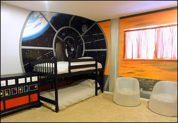 Star Wars Bedroom Ideas : outer space themed bedroom decorating ideas-kids bedrooms