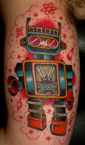 tumblr kommhjKwVg1qzabkfo1 400 >#tattoofriday   Robot