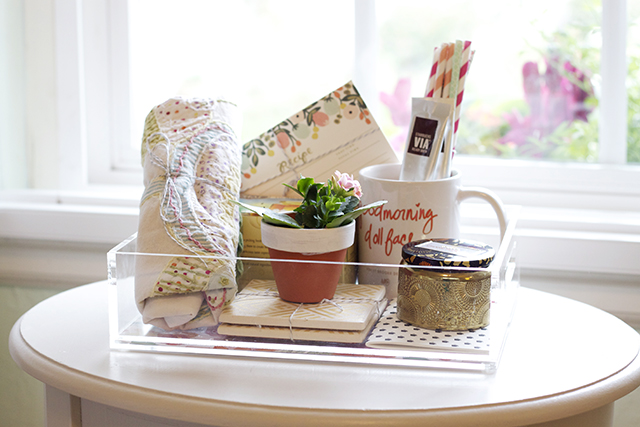 Entertaining Housewarming Gift Tray Ideas Michaela Noelle Designs