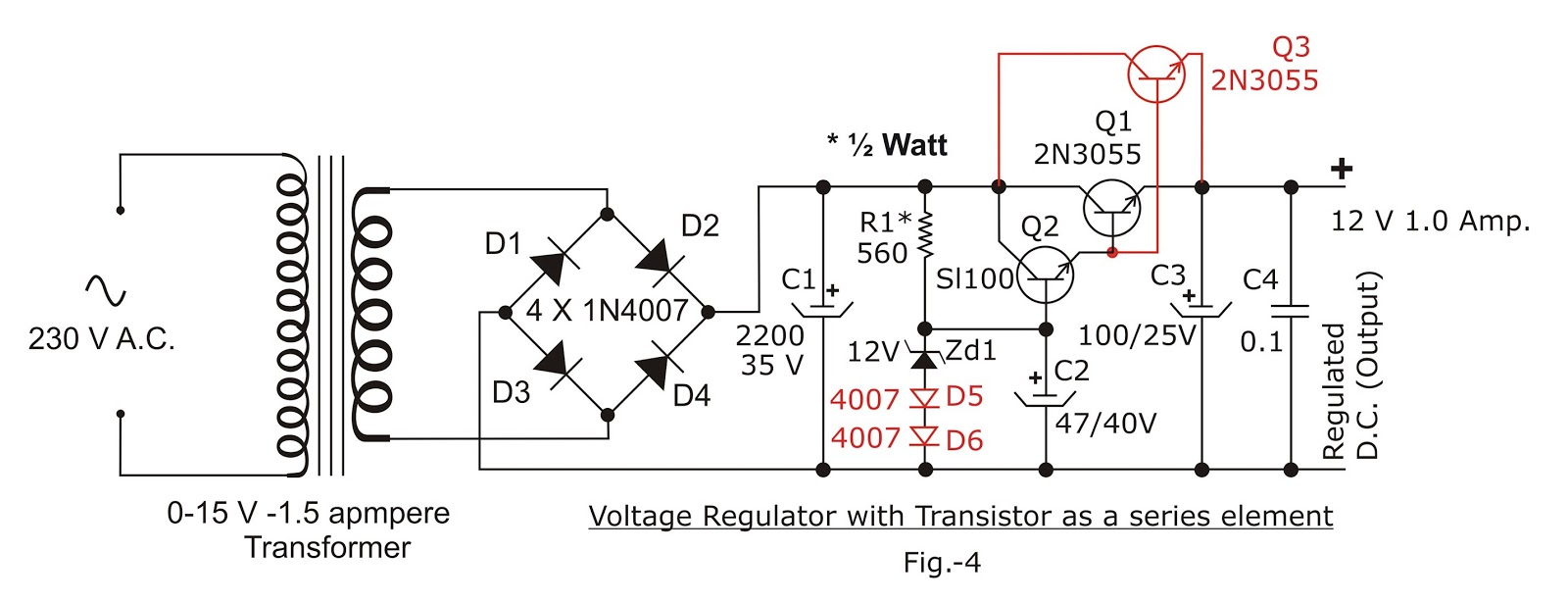 Electronic Circuits Ac Led Circuit Diagram In Addition 12 Volt Voltage Regulator