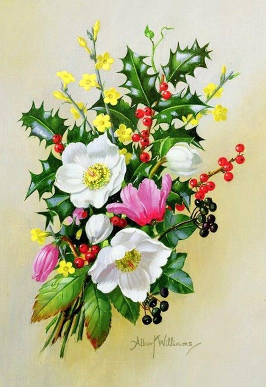 Cuadros modernos pinturas y dibujos flores realismo leo - Ramos de flores modernos ...