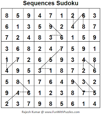 Sequences Sudoku (Fun With Sudoku #61) Solution