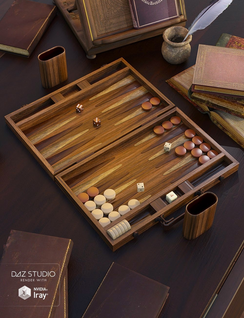 Prêt à Jouer - Backgammon Set