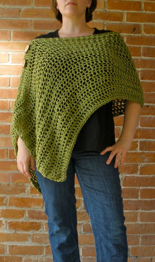 Free Pattern Easy Crochet Poncho : Sarahndipities ~ fortunate handmade finds: Pinterest ...