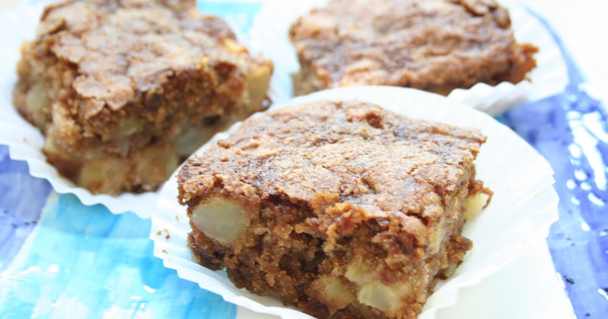 COOK WITH SUSAN: Apple Brownies or Grandma's Easy Apple Cake