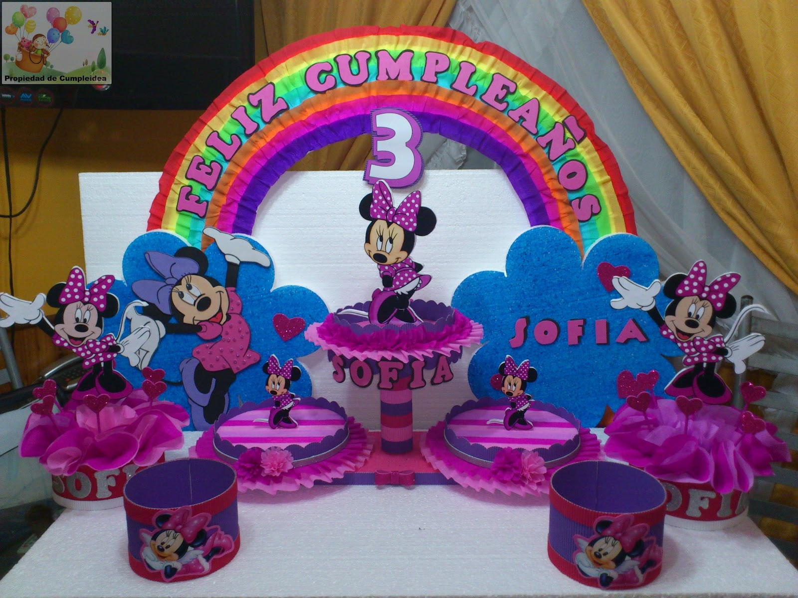 DECORACIONES INFANTILES: PACK MINNIE EN ROSA