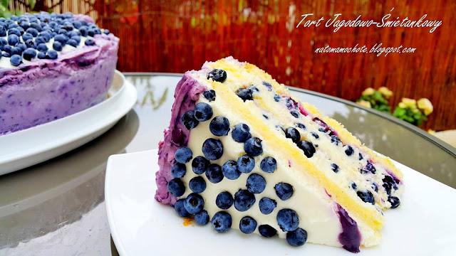 Tort Śmietankowo-Jagodowy
