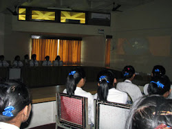 Children from the Christian Mission Secondary School watching animation films