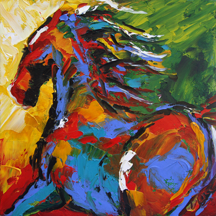 Im genes arte pinturas cuadros de caballos pintados con for Imagenes de cuadros abstractos faciles