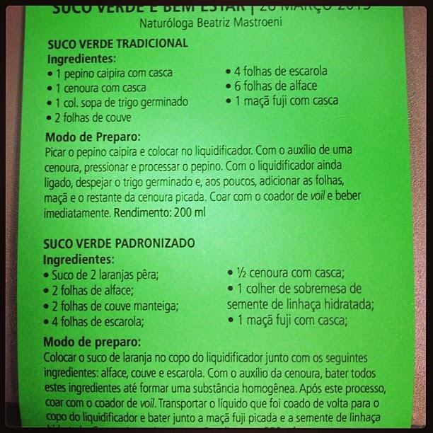 Receita de suco verde. Foto: Elis Reche / Arquivo pessoal