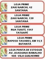 Lojas: