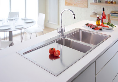 modern double bowl kitchen sink
