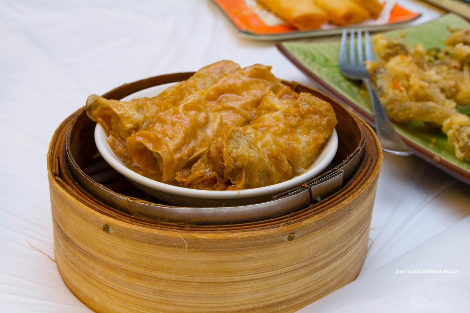 tofu skin rolls fried pork rolls in bean curd skin lor bak recipe sbs ...