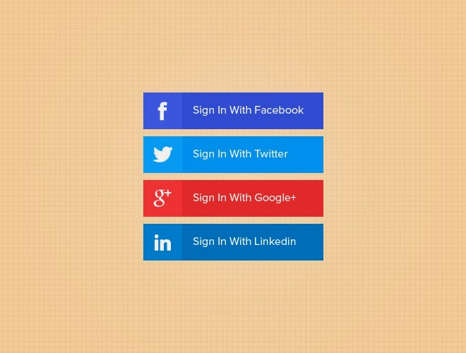 Free Social Media PSD Buttons