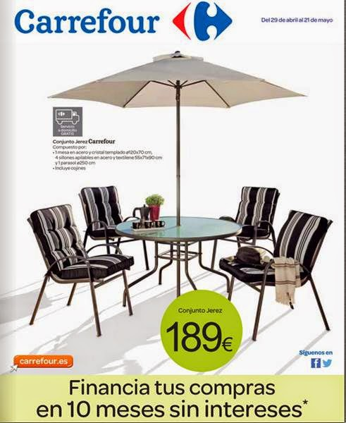 Catalogo carrefour ofertas en jardin mayo 2014 for Muebles resina carrefour