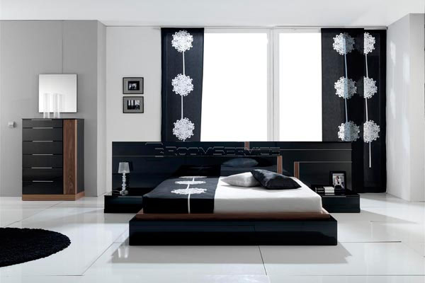 black and white contemporary modern bedroom sets