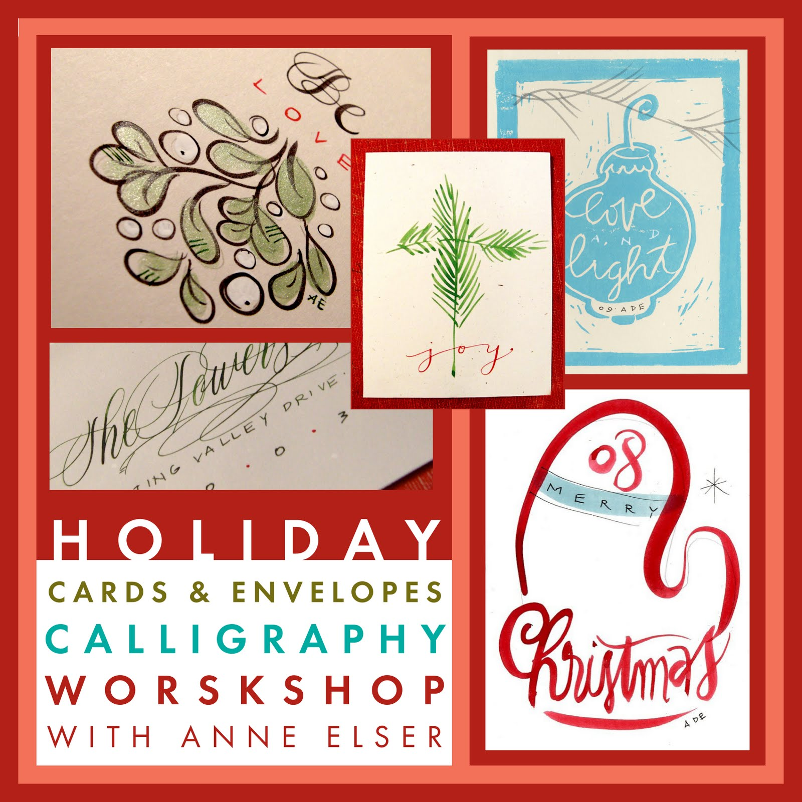 Anne Elser New Workshop This Fall Of 2011 Holiday Cards