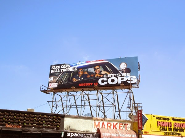 Let's Be Cops film billboard