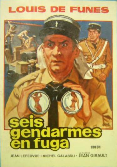 Seis gendarmes en fuga, Le Gendarme en balade, Louis de Funès