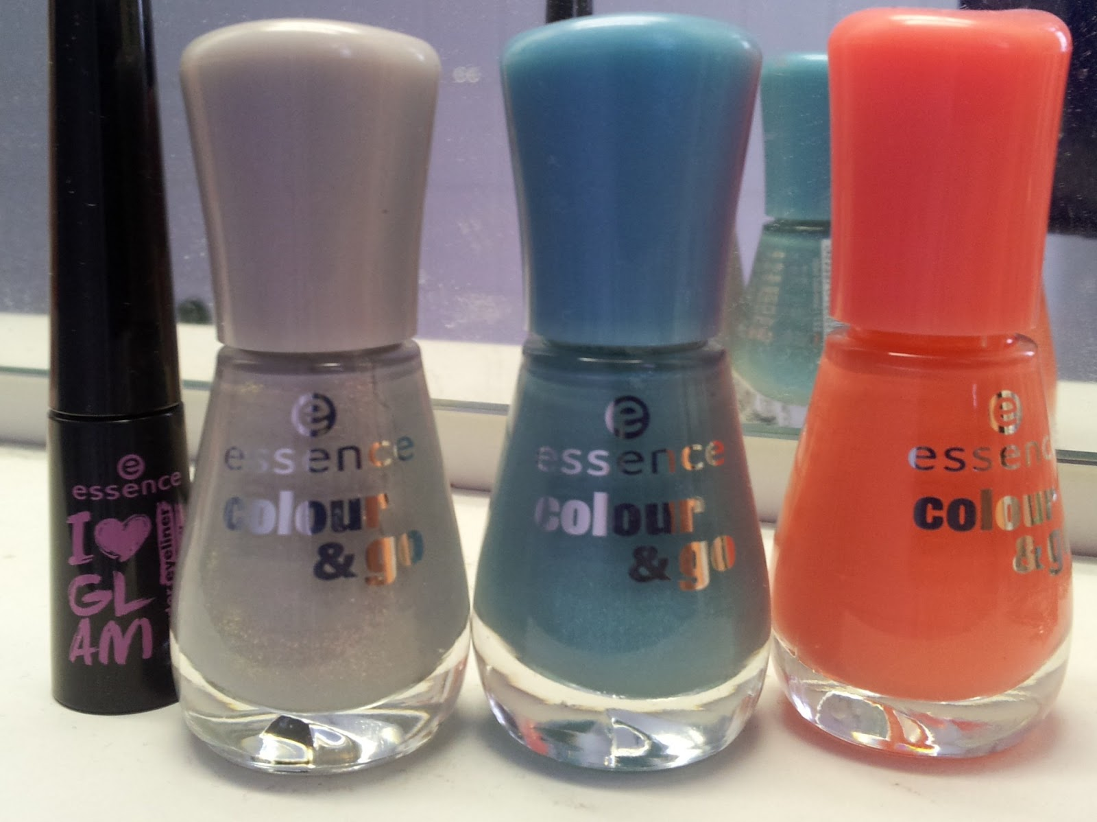 essence Colour&Go Off to miami, Grey-t to be here, I love bad boys
