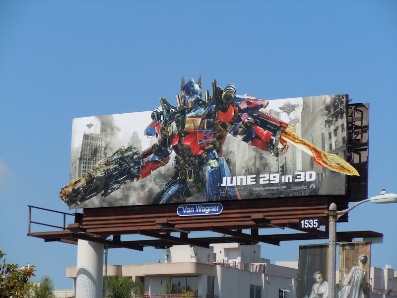 Transformers 3 movie billboard