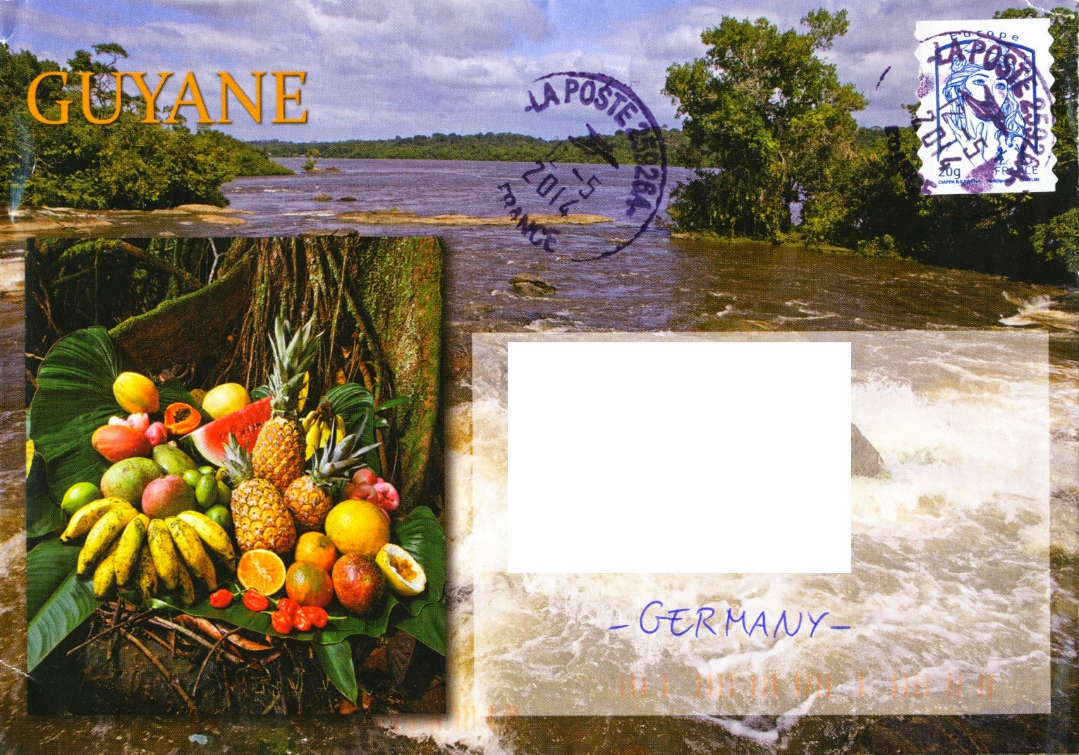 french guiana, envelope