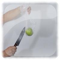 Cortar la manzana dentro del pañuelo, truco revelado