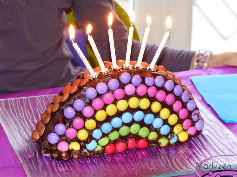 gâteau d'anniversaire arc-en-ciel | marlyzen, cuisine revisitée