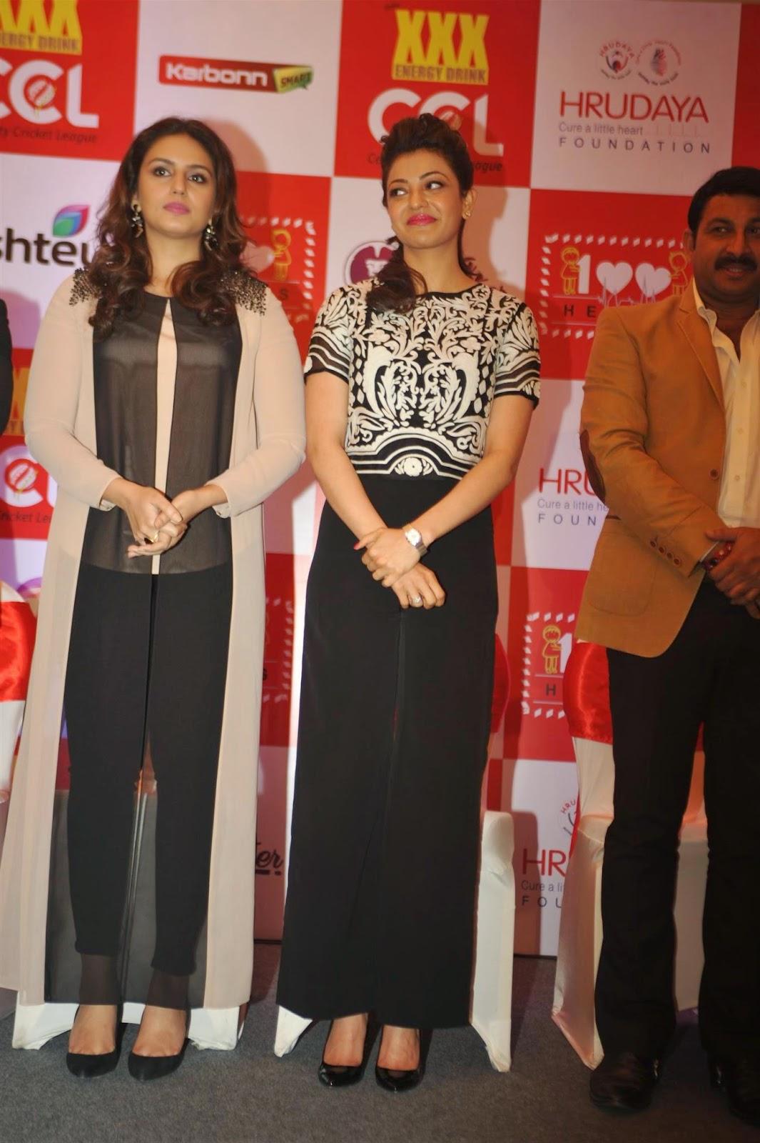 Kajal Aggarwal And Huma Qureshi Latest Photos At Launch Of 100