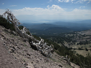 View of Lake Almanor from Lassen Peak Trail, Lassen Volcanic National Park, California